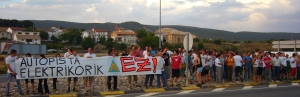 Manifestación celebrada en Mendilibarri